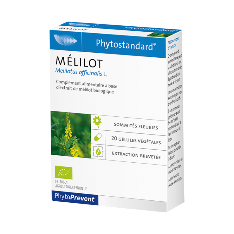 PhytoStandard MÉLILOT - 20 gélules - PHARMACIE VERTE - Herboristerie à Nantes depuis 1942 - Plantes en Vrac - Tisane - EPS - Hom