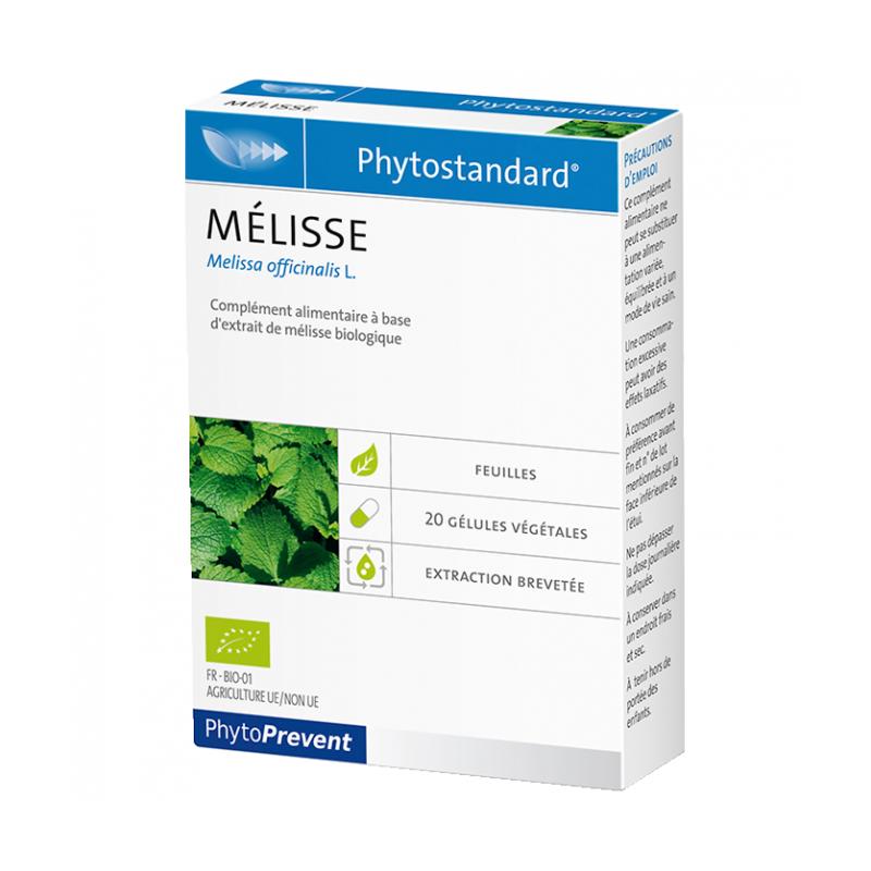 PhytoStandard MÉLISSE - 20 gélules - PHARMACIE VERTE - Herboristerie à Nantes depuis 1942 - Plantes en Vrac - Tisane - EPS - Hom