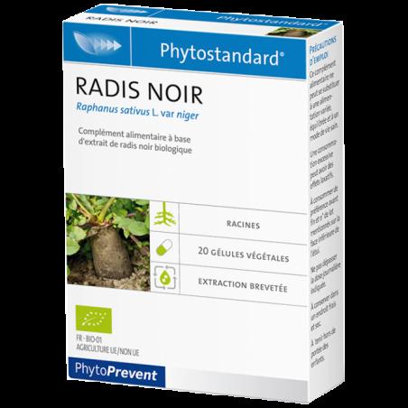 PhytoStandard RADIS NOIR - 20 gélules - PHARMACIE VERTE - Herboristerie à Nantes depuis 1942 - Plantes en Vrac - Tisane - EPS -