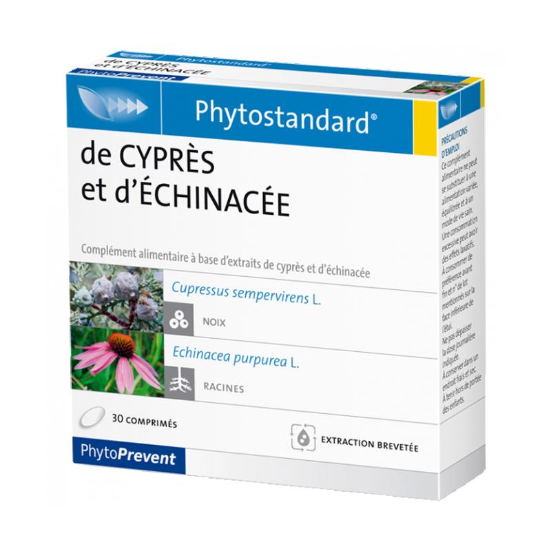 PhytoStandard CYPRÈS & ECHINACÉE - 30 comprimés - PHARMACIE VERTE - Herboristerie à Nantes depuis 1942 - Plantes en Vrac - Tisan