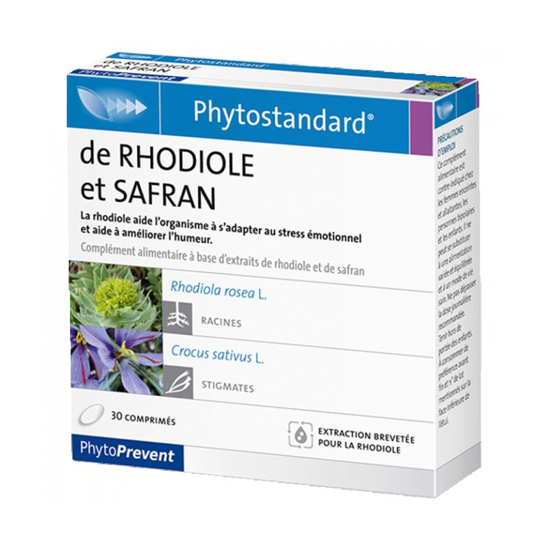 PhytoStandard RHODIOLE & SAFRAN - 30 comprimés - PHARMACIE VERTE - Herboristerie à Nantes depuis 1942 - Plantes en Vrac - Tisane