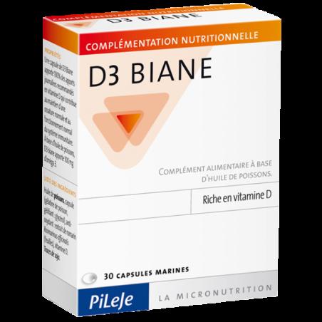 D3 BIANE - 30 capsules - PHARMACIE VERTE - Herboristerie à Nantes depuis 1942 - Plantes en Vrac - Tisane - EPS - Bourgeon - Myco