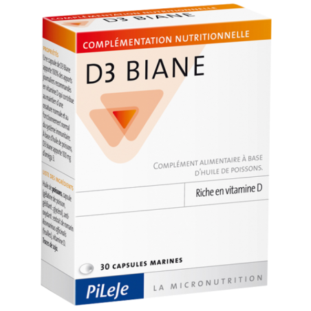 D3 BIANE - 30 capsules - PHARMACIE VERTE - Herboristerie à Nantes depuis 1942 - Plantes en Vrac - Tisane - EPS - Homéopathie - G