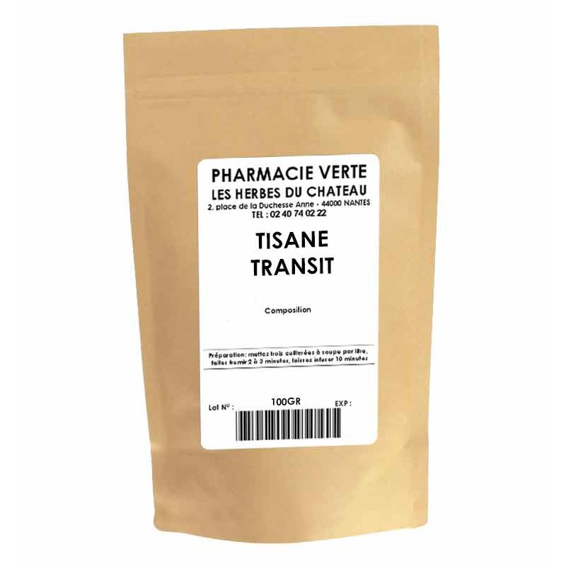 TRANSIT - 100GR - PHARMACIE VERTE - Herboristerie à Nantes depuis 1942 - Plantes en Vrac - Tisane - EPS - Homéopathie - Gemmothe
