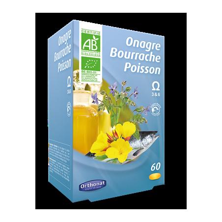 ONAGRE BOURRACHE POISSON - 60 capsules - PHARMACIE VERTE - Herboristerie à Nantes depuis 1942 - Plantes en Vrac - Tisane - EPS -