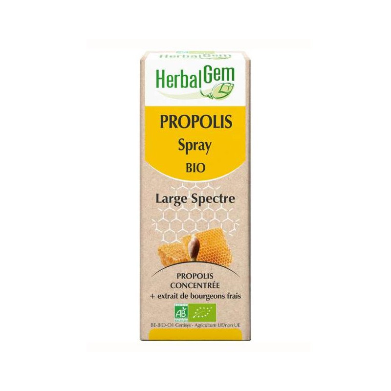 HERBALGEM PROPOLIS SPRAY - 15ml - PHARMACIE VERTE - Herboristerie à Nantes depuis 1942 - Plantes en Vrac - Tisane - EPS - Homéop