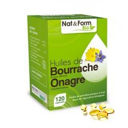 Bourrache & Onagre Bio - 120 Capsules - PHARMACIE VERTE - Herboristerie à Nantes depuis 1942 - Plantes en Vrac - Tisane - EPS -