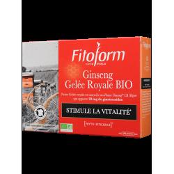 GINSENG GELÉE ROYALE Bio - 20 Ampoules + 10 - PHARMACIE VERTE - Herboristerie à Nantes depuis 1942 - Plantes en Vrac - Tisane -