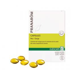 Oleocaps 1 - Nez gorge - 30 capsules - PHARMACIE VERTE - Herboristerie à Nantes depuis 1942 - Plantes en Vrac - Tisane - EPS - H