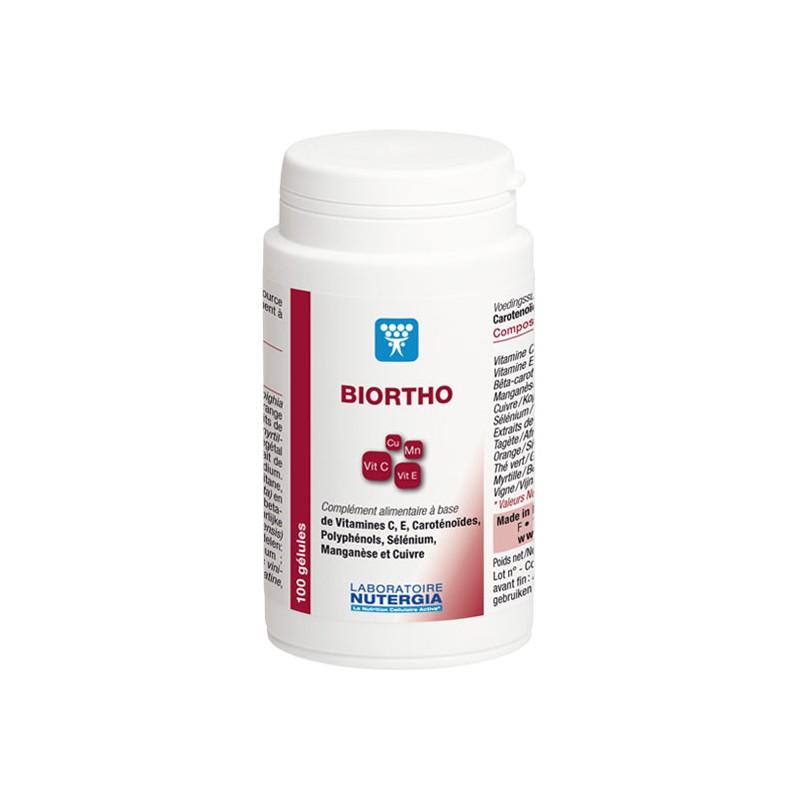 BIORTHO - 100 gélules - PHARMACIE VERTE - Herboristerie à Nantes depuis 1942 - Plantes en Vrac - Tisane - EPS - Homéopathie - Ge