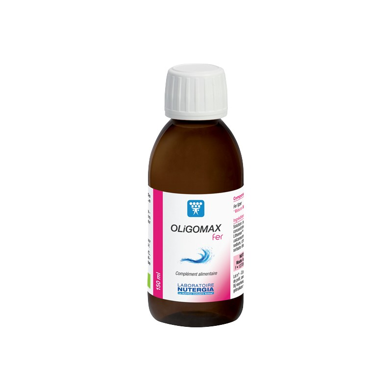OLIGOMAX Fer - 150ml - PHARMACIE VERTE - Herboristerie à Nantes depuis 1942 - Plantes en Vrac - Tisane - EPS - Homéopathie - Gem