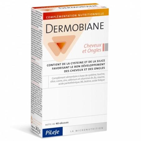 DERMOBIANE Cheveux et Ongles - 40 gélules - PHARMACIE VERTE - Herboristerie à Nantes depuis 1942 - Plantes en Vrac - Tisane - EP