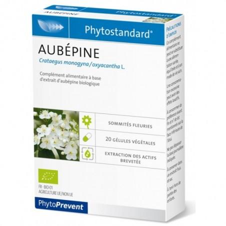 PhytoStandard AUBEPINE - 20 gélules - PHARMACIE VERTE - Herboristerie à Nantes depuis 1942 - Plantes en Vrac - Tisane - EPS - Ho